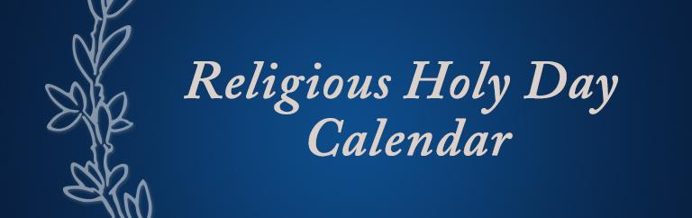 Religious Holy Day Calendar banner