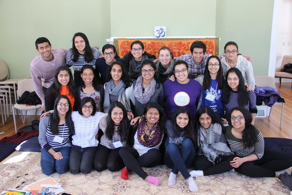 Group of Students at 2015 Hindu Life Spring Retreat
