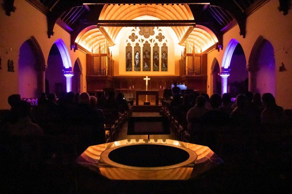 Dahlgren Chapel during a Pipedreams performance
