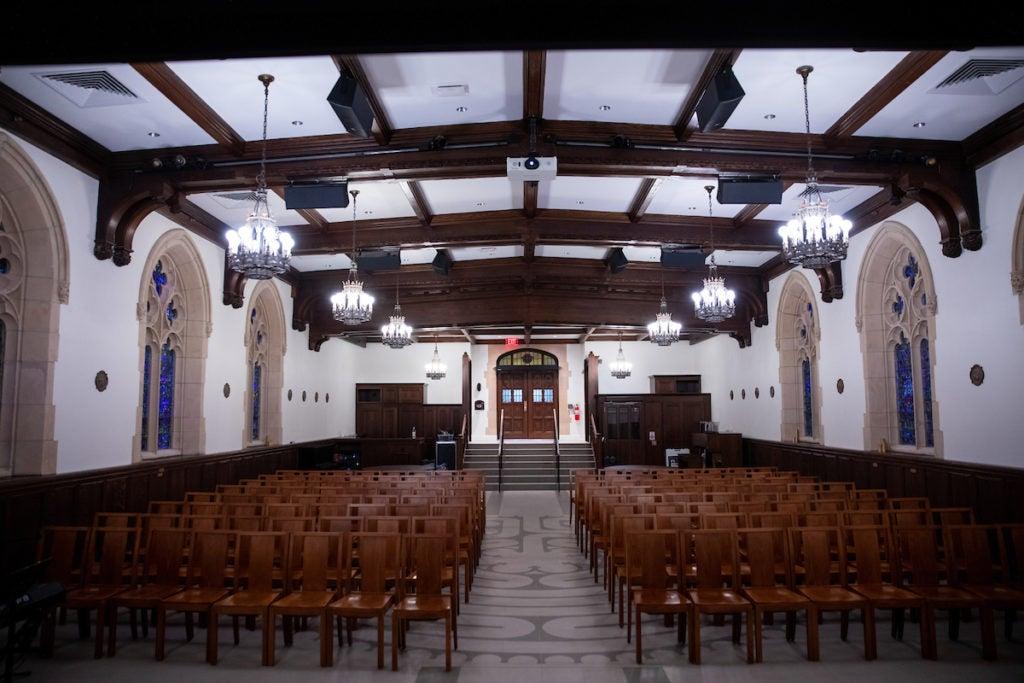 Interior shot of St William chapel
